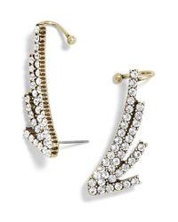 BaubleBar - Metallic Winged Pave Ear Cuffs - Lyst