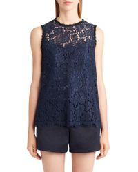 Dolce & Gabbana | Blue Lace Top | Lyst