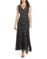 Pisarro Nights Black Beaded Godet Gown