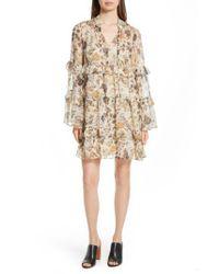 Robert Rodriguez | Multicolor Tiered Ruffle Silk Dress | Lyst