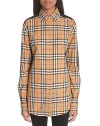 Burberry Multicolor Saoirse Vintage Check Cotton Top