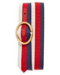 Gucci - Red Slider Belt - Lyst
