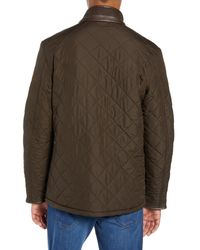 Barbour Green 'powell' Regular Fit Quilted Jacket for men