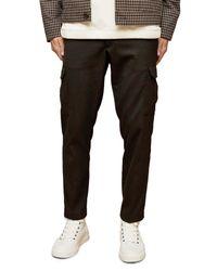 Topman Black Skinny Twill Cargo Trousers for men