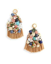 Lizzie Fortunato Metallic Daydream Raffia Drop Earrings