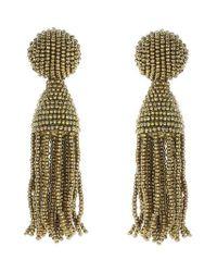Oscar de la Renta - Metallic 'classic Short' Tassel Drop Earrings - Lyst