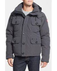 Canada Goose Gray 'selkirk' Slim Fit Water Resistant Down Parka With Detachable Hood for men