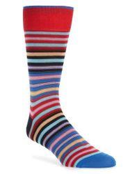 Bugatchi - Red Cotton Blend Socks for Men - Lyst