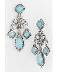 Konstantino - Blue 'aegean' Chandelier Earrings - Lyst