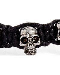 Alexander McQueen Black Skull Friendship Bracelet for men