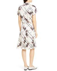 Equipment Multicolor Leonce Silk Wrap Dress