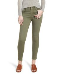 7 For All Mankind Green 7 For All Mankind Released Hem Ankle Skinny Jeans