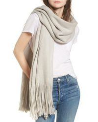 Free People   Gray Kolby Brushed Scarf   Lyst