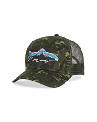 Patagonia - Green 'fitz Roy - Trout' Trucker Hat for Men - Lyst
