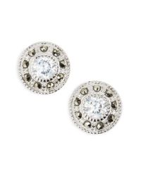 Judith Jack - Metallic Pave Stud Earrings - Lyst
