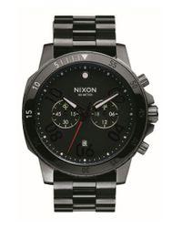 Nixon Black 'ranger' Chronograph Bracelet Watch for men