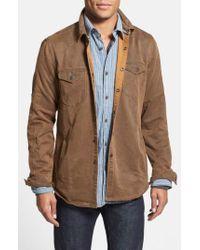 Jeremiah Brown 'colt' Regular Fit Sueded Cotton Blend Shirt Jacket for men