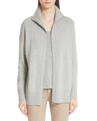 Lafayette 148 New York - Gray Luxe Merino Wool & Cashmere Sweater Jacket - Lyst