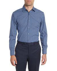 BOSS - Blue Sharp Fit Plaid Dress Shirt for Men - Lyst
