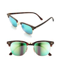 Ray-Ban Green Flash Clubmaster 51mm Sunglasses - for men