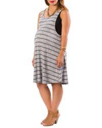 Lab40 Multicolor Danielle Maternity/nursing Tank Dress