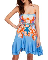 Free People Blue Sweet Lucy Slipdress
