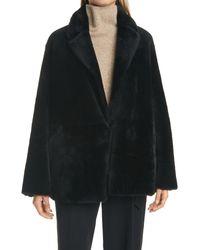 Vince Black Genuine Shearling Coat