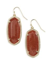 Kendra Scott | Brown 'elle' Drop Earrings | Lyst
