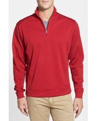 Cutter & Buck Red Drytec Half Zip Pullover for men