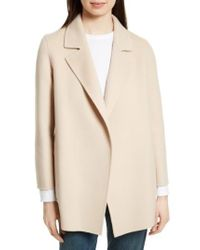 Theory | Natural Clairene New Divide Wool & Cashmere Open Front Topper | Lyst