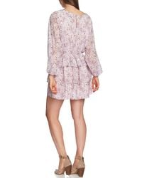 1.STATE Black Bloomsbury Floral Tiered Ruffle Dress