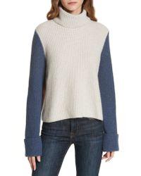 Autumn Cashmere Brown Colorblock Cashmere Sweater
