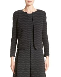 Armani | Gray Embossed Jacquard Jersey Jacket | Lyst