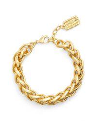 Karine Sultan - Metallic Braided Link Bracelet - Lyst