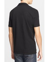 James Perse Green Slim Fit Sueded Jersey Polo for men