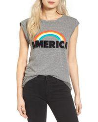 Pam & Gela - Gray Frankie America Muscle Tee - Lyst
