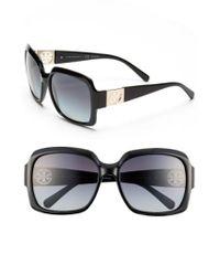 Tory Burch Black 59mm Polarized Sunglasses