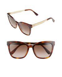 Jimmy Choo Brown 55mm Retro Sunglasses - Havana