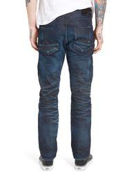 PRPS Blue Demon Slim Straight Leg Moto Jeans for men