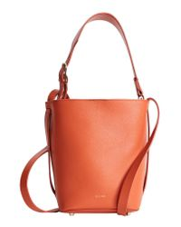 Reiss Orange Hudson Mini Leather Bucket Bag