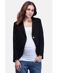 Isabella Oliver Black The Everyday Ponte Jersey Single-Button Maternity Blazer
