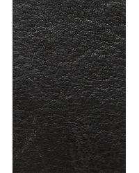 Frye Black Flat Panel Leather Belt for men