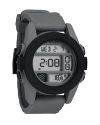 Nixon - Black 'the Unit' Round Digital Watch for Men - Lyst