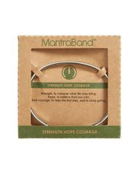 Mantraband | Metallic She Is Fierce Engraved Cuff | Lyst