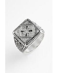 Konstantino - Metallic 'classics' Cross Square Ring for Men - Lyst