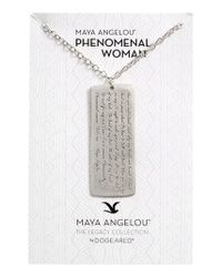 Dogeared | Metallic Legacy Collection - Phenomenal Women Large Tag Necklace | Lyst