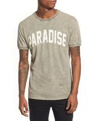 Antony Morato - Green Paradise Graphic T-shirt for Men - Lyst