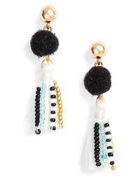 Rebecca Minkoff Multicolor Beaded Tassel Earrings
