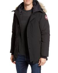 Canada Goose - Black Chateau Parka With Genuine Coyote Fur Trim for Men - Lyst