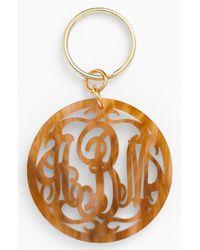 Moon & Lola Metallic Personalized Monogram Key Chain